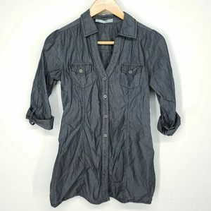 Maurices Gray Button Down Shirt Size S